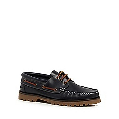RJR.John Rocha - Navy leather 'Banff' boat shoes