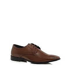 The Collection - Dark brown leather 'Cricket' Derby shoes