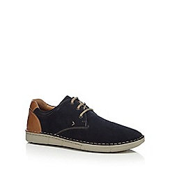 Henley Comfort - Navy suede 'Woodhall' Derby shoes