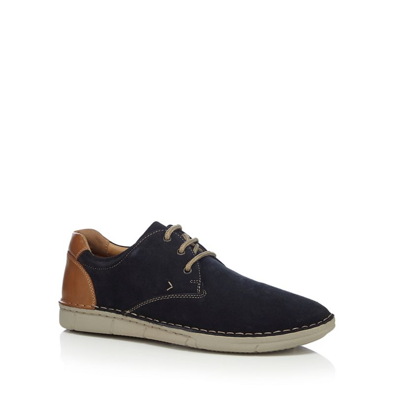 Henley Comfort - Navy Suede Woodhall Derby Shoes