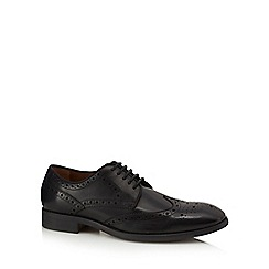 Henley Comfort - Black leather 'Hankley' brogues