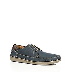 Henleys - Blue suede 'John' lace up shoes