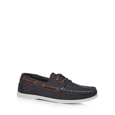 Hammond & Co. by Patrick Grant - Blue leather 'Yale' boat shoes