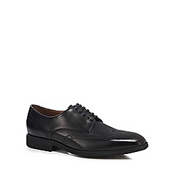 Jeff Banks - Black leather 'Bunting' wingtip Derby shoes