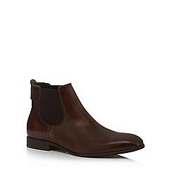 Jeff Banks - Dark brown leather 'Eider' Chelsea boots