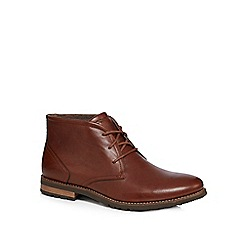 Rockport - Tan leather 'Ledge Hill 2' chukka boots