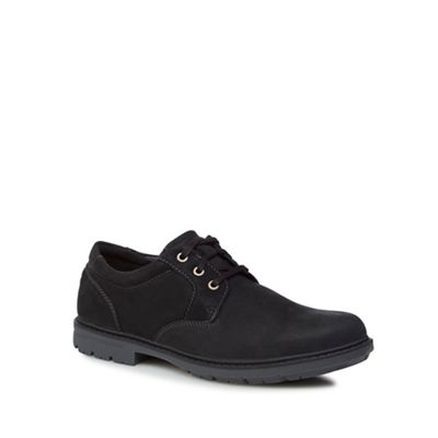 Rockport - Black 'Tough Bucks' waterproof lace up shoes