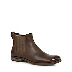 Rockport - Dark brown leather 'Wynstin' Chelsea boots