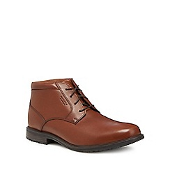 Rockport - Tan leather 'Essential Detail' desert boots
