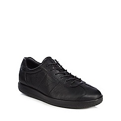 ECCO - Black leather 'Soft 1' trainers