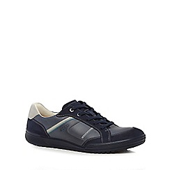 ECCO - Blue leather 'Fraser' trainers