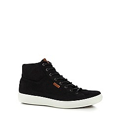 ECCO - Black suede 'Soft 7' high tops