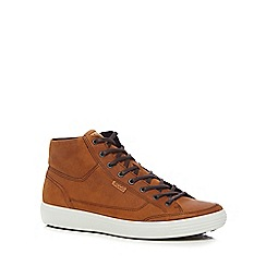 ECCO - Brown leather 'Soft 7' high tops