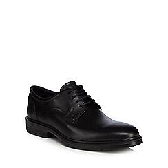 ECCO - Black leather 'Lisbon' Derby shoes