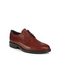 ECCO - Brown leather 'Lisbon' Derby shoes