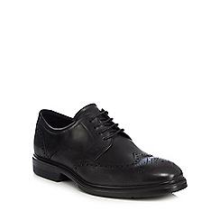 ECCO - Black leather 'Lisbon' brogues