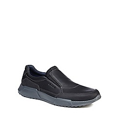 ECCO - Black leather 'Luca' slip on shoes