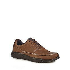 ECCO - Brown leather 'Luca' trainers