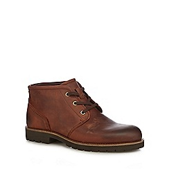 ECCO - Brown leather 'Jamestown' chukka boots