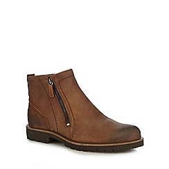 ECCO - Brown leather 'Jamestown' boots