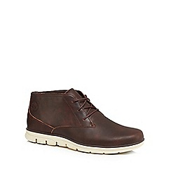 Timberland - Brown 'Bradstreet' leather chukka boots