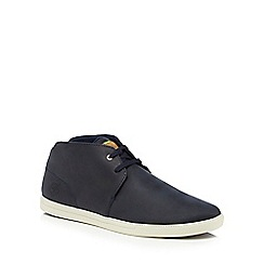 Timberland - Navy leather 'Fulk' chukka boots