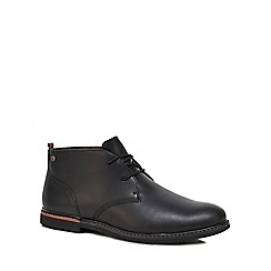 Timberland - Black leather 'Brook Park' chukka boots