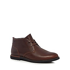 Timberland - Brown leather 'Brook Park' chukka boots