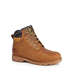 Timberland - Tan 'Leavitt' lace-up boots
