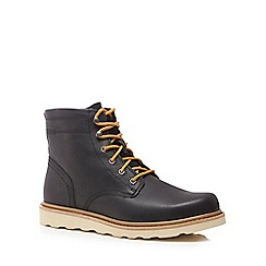 Caterpillar - Black leather 'Cronical' lace up boots