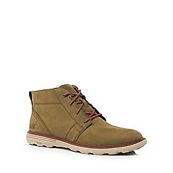 Caterpillar - Khaki leather 'Trey' chukka boots