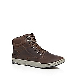 Caterpillar - Brown leather 'Colfax' lace up boots