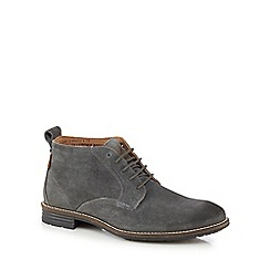 Levi's - Black leather 'Huntingdon Chukka' lace up boots