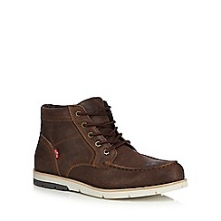 Levi's - Brown leather 'Dawson' lace up boots