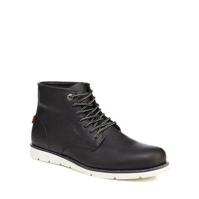 Online ExclusiveLevi's - Black leather 'Jax' lace up boots