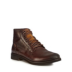Levi's - Brown leather 'Baldwin' boots