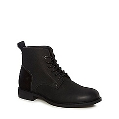 G-Star - Black 'Warth' lace-up boots