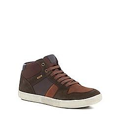 Geox - Dark brown 'Taiki' trainers