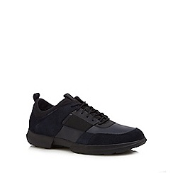 Geox - Navy leather 'Traccia' trainers