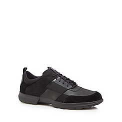 Geox - Black leather 'Traccia' trainers