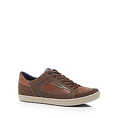 Geox - Brown 'Halver' high top trainers