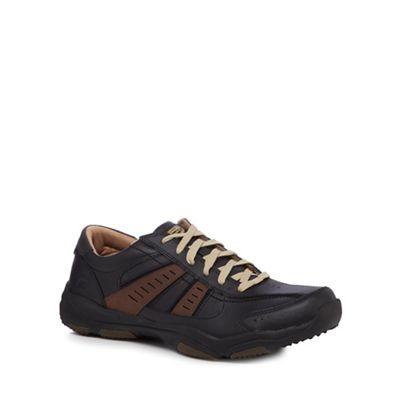 Skechers - Black leather 'Larson Nerick' trainers