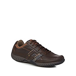 Skechers - Brown leather 'Sendro' trainers