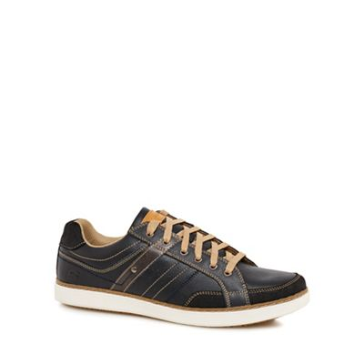Skechers - Navy 'Lanson' trainers Fashionable and eye-catching shoes