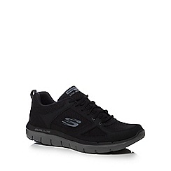Skechers - Black leather 'Flex Advantage 2.0' trainers