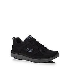 Skechers - Black leather 'Flex Advantage 2.0' trainers