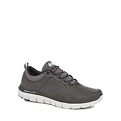 Skechers - Grey leather 'Flex Advantage 2.0' trainers