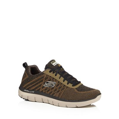 Skechers - Khaki 'Flex Advantage 2.0' trainers