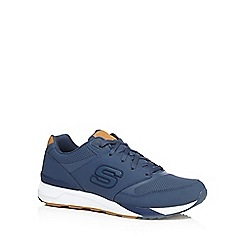 Skechers - Navy leather '90' trainers
