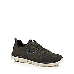 Skechers - Khaki 'Flex Advantage' trainers